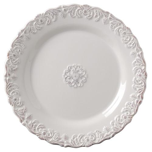 Ceramic Salad Plates, 4-Piece Set, White