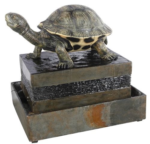 "Turtle Floor Fountain 19""X19""X47"""