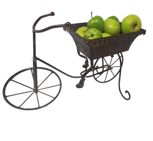 Brown Metal Bicycle Planter