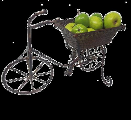 "Brown Metal Bicycle Planter 17""x6.5""x11.5"