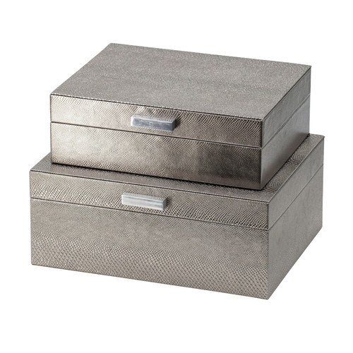 Silver Decorative Boxes Set Of 2