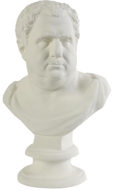 """Large Roman Bust Statue Sculpture 15.5""""x10.5""""x25.3""""H"""