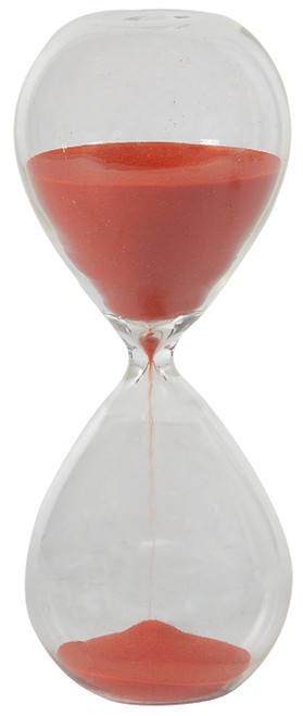"""A&B Home 30 Min. Hourglass Sand Timer Coral Red 8"""""""