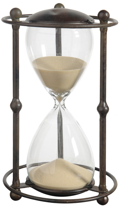 A&B Home Hour Glass In Stand, Tan, (Approx. 1 Hour)