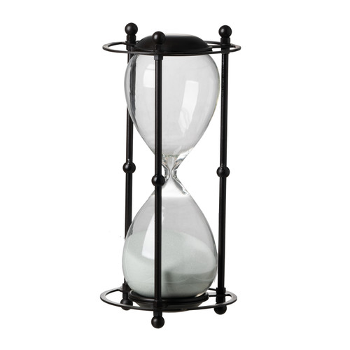 A&B Home Hour Glass In Stand (Approx. 1 Hour), White