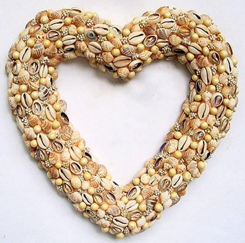 "FantasticDecor Seashell Heart Wreath 10""x11"""