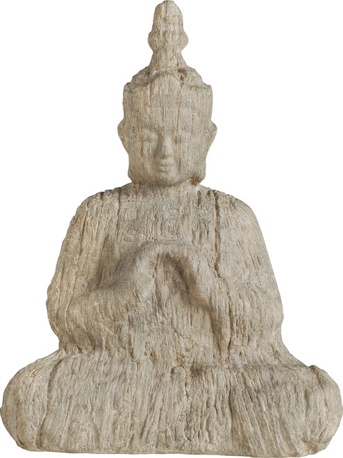 Wood-Look Buddha Statue