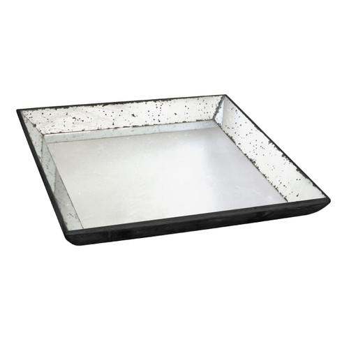 """Mirror Glass Tray 20""""X20"""""""