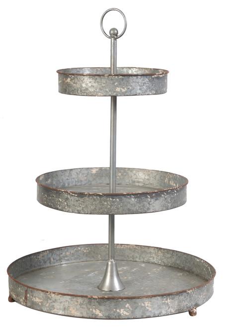 3-Tier Tin Metal Tray