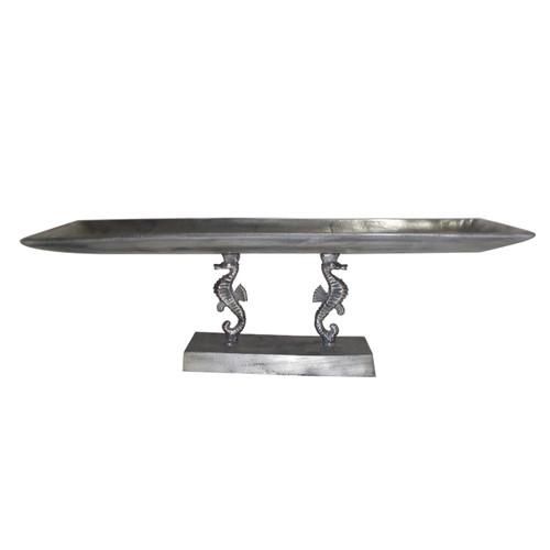 Aluminum Seahorse Decorative Tray