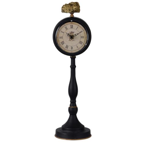 """Lavonia Pedestal Table Clock With Qquartz 5X5X16"""""""