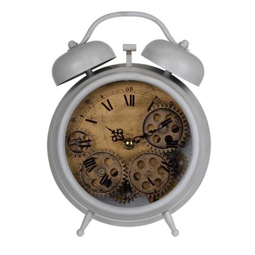 """Hereford Table Clock Gear 7.5""""X3""""X10"""""""