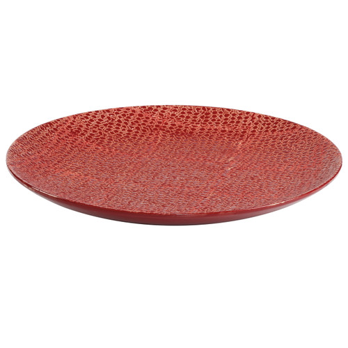"Textured Ceramic Centerpiece Plate Charger D20"""