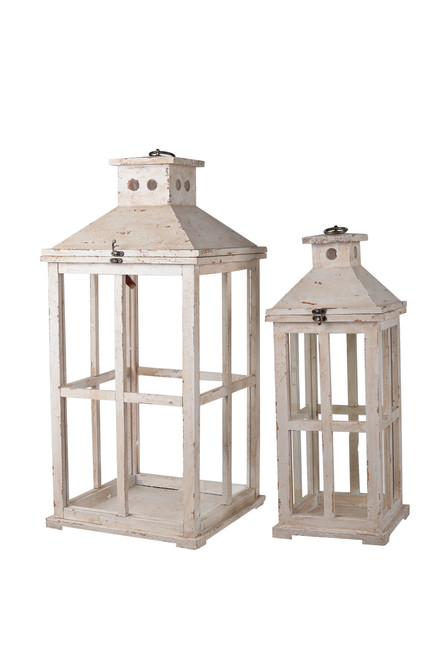 """Reed Candle Lanterns-Set Of 2, 25 19.5-Inch, 25"""" X 19.5"""""""