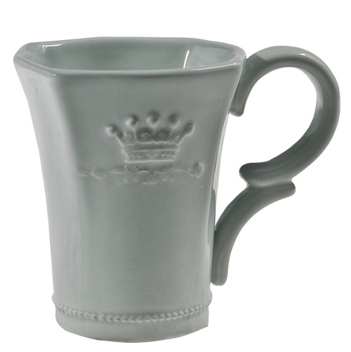 Ceramic Crown Mug Blue, Set Of 4