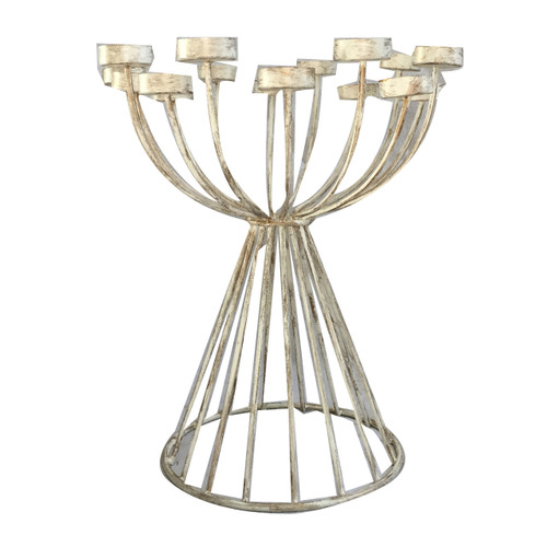 "Gray Ceramic Table Lamp Base D12X9.5"""