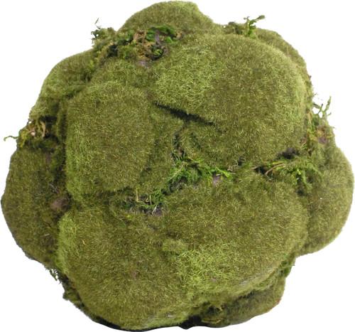 """Set Of 3 6.5"""" Artificial Decorative Moss Ball"""
