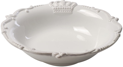 """Lot Of 4 Ceramic Crown Soup Cereal Bowl White 9""""x2"""""""