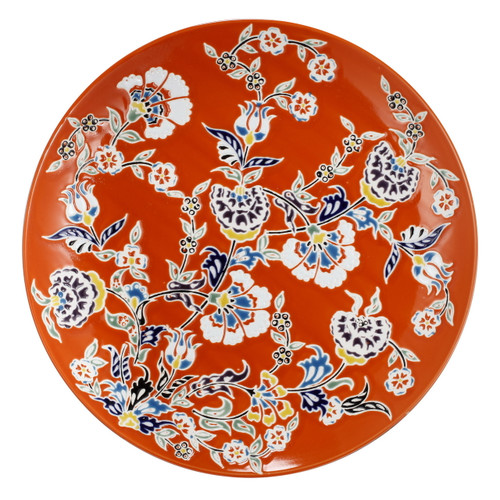 Kathy Ireland Decorative Plate Charger Orange