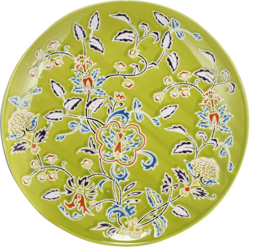 Kathy Ireland Decorative Plate Charger Green