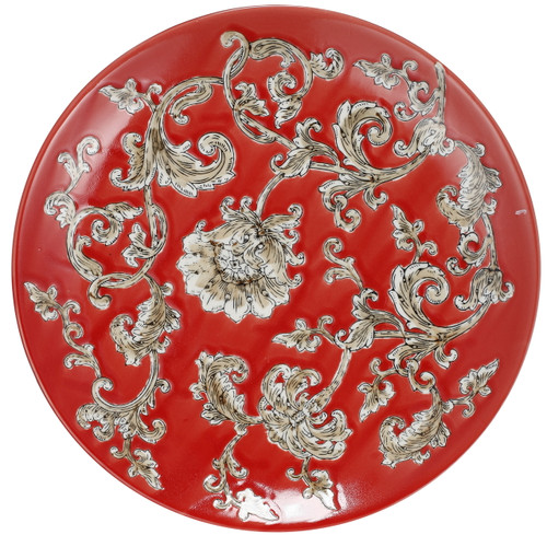Mona Aladham Decorative Plate Charger Red