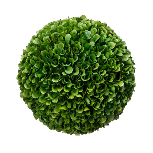 This beautiful Boxwood Ball is a home accent that offers everlasting and evergreen beauty for your home decor. It looks so fresh and life-like. Suitable for indoor use, or outdoor under cover.