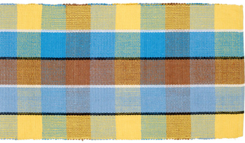 100% Cotton Table Runner Blue Yellow
