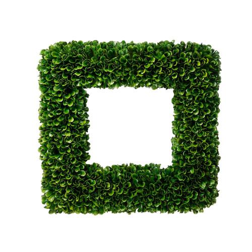 "Faux Boxwood Square Wreath 14""x14"""