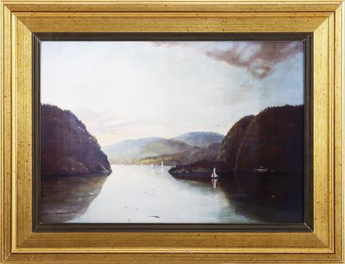"""""""The Hudson Highlands At Sunset"""" Framed Art Print By G. D. Brewerton"""