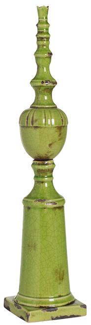 "Ceramic Finial 5.5""X25"" Green"
