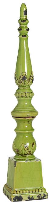 "Ceramic Finial 5.5""X27"" Green"