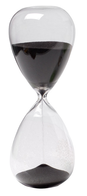 """30 Min. Hourglass Sand Timer With Black Sand 8"""""""