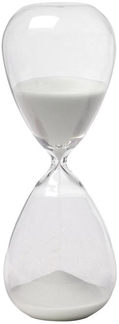 "1 Hr. Hourglass Sand Timer White 10"""