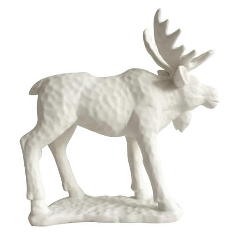 "Woodland Moose Statue Sculpture 9""X4""X9"""