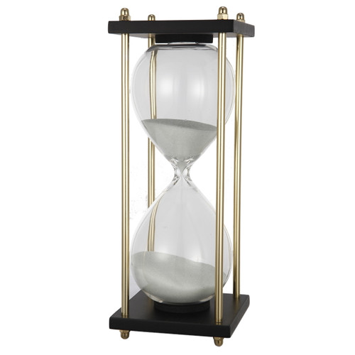 """30 Min. Hourglass Sand Timer On Stand White 4x9"""""""