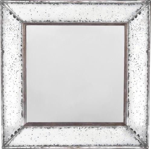 """Antique-Look Frameless Wall Mirror 12""""x 12"""""""