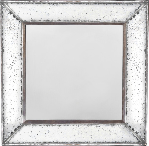 "Antique-Look Frameless Wall Mirror 12""x 12"""