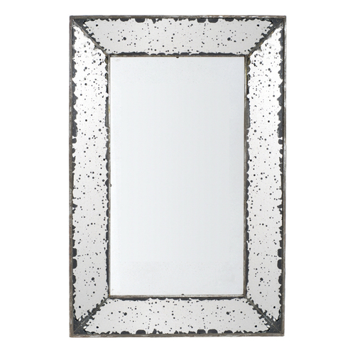 "Antique-Look Frameless Wall Mirror 16.5""x24"""