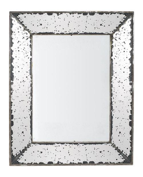"""Antique-Look, Frameless Wall Mirror, 12.5""""X20.5"""""""