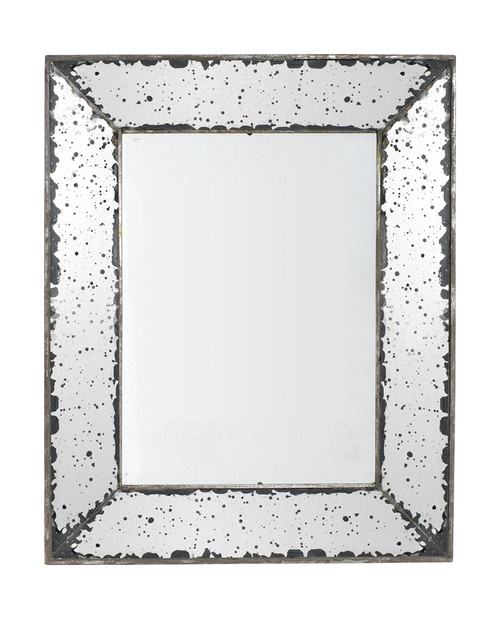 Antique-Style Frameless Wall Mirrors, Set Of 2