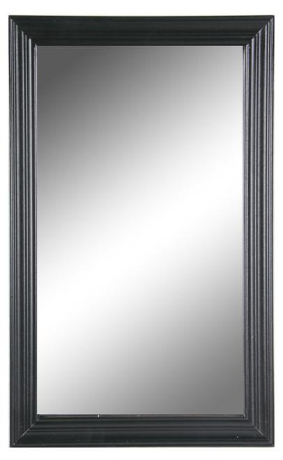 Wood Frame Mirror, Black