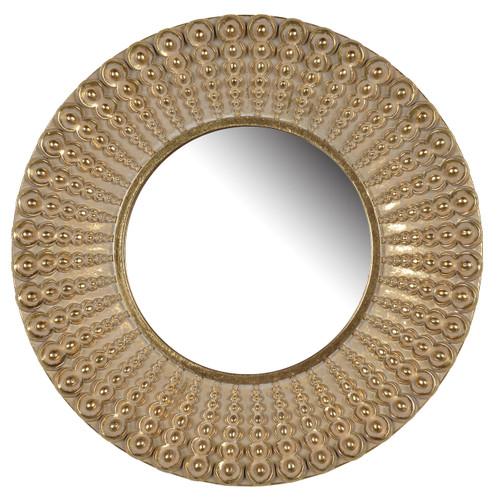 """Aubrey Round Mirror 14"""""""