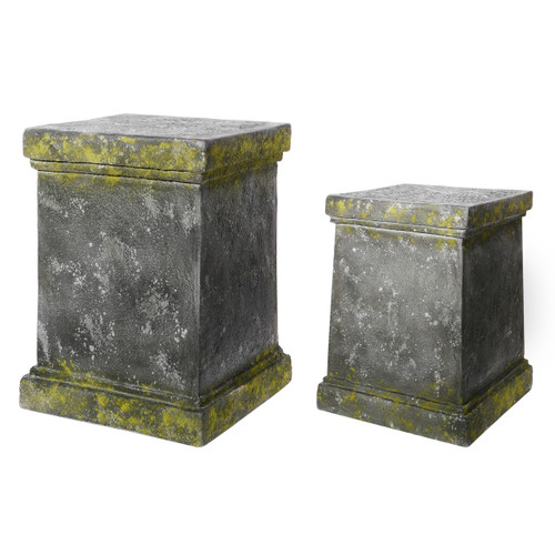 Ever Square Pedestal Plant Stands, Set Of 2