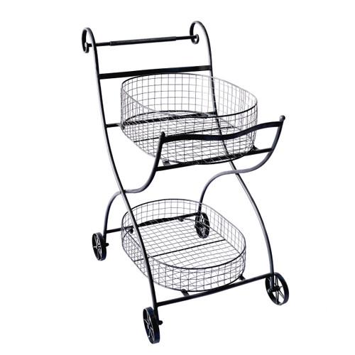 """Metal Garden Flower Cart 27""""X25""""X36"""""""