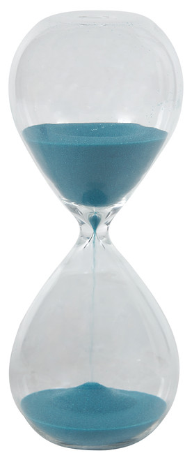 30 Minute Blown Glass Hourglass Sand Timer