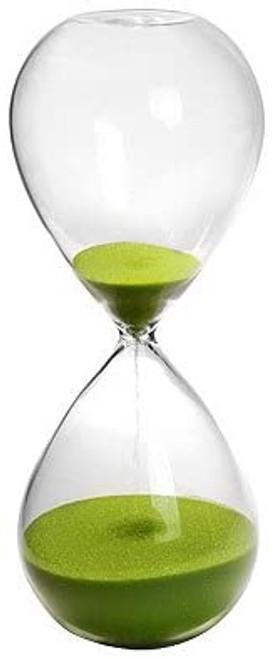 30 Min Lime Blown Glass Hourglass Sand Timer