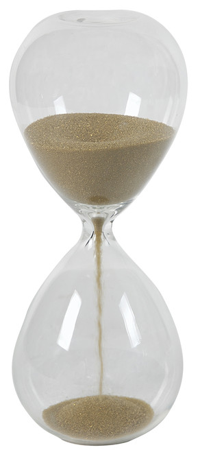 """10"""" 2 Minute Hourglass Sand Timer Tan Color"""