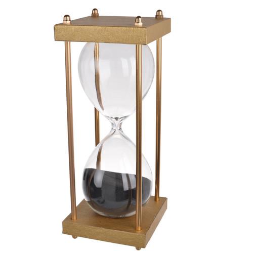 "30 Min Hourglass Sand Timer Black 4x10"""