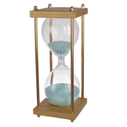 "30 Min Hourglass Sand Timer Blue 4X10"""