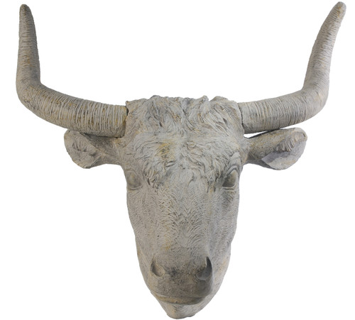 Angus Horned Wall Accent Cow Head Statue 32x18x30""